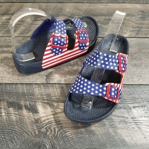 Birkenstock Womens 8 Red White Blue USA Flag Stars